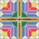 4 Block Quilt Flower Bouquet 1 - PDF Cross Stitch Pattern