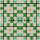 4 Block Quilt Irish Eyes 1 - PDF Cross Stitch Pattern