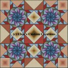 4 Block Quilt Flying Swallows 1 - PDF Cross Stitch Pattern