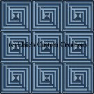 9 Block Quilt Log Cabin 1 - PDF Cross Stitch Pattern