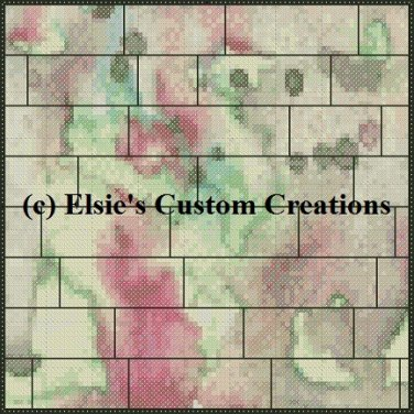 Watercolor Quilt Block 11 - PDF Cross Stitch Pattern