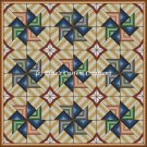 Full Size Quilt Spiral Pinwheel 1 - PDF Cross Stitch Pattern