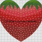 Strawberry Heart - PDF Cross Stitch Pattern
