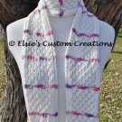 Cabled English Mesh Lace Scarf - PDF Knitting Pattern