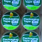 Lot Of 6 Rolls Duck Clear Packaging/Shipping Tape 50 Yards each  FREE SHIPPING