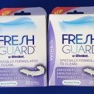 ~2~ Fresh Guard by Efferdent Wipes 20 Wipes Each  FREE SHIPPING