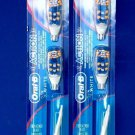2  Packs Of ORAL-B Action Replacement Toothbrush Brush Heads  FREE SHIPPING