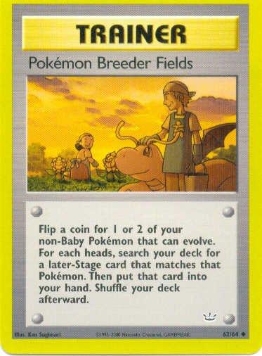 Pokemon Breeder Fields