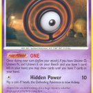 Pokemon Secret Wonders Uncommon Card Unown O 70/132