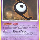 Pokemon Secret Wonders Uncommon Card Unown Z 72/132
