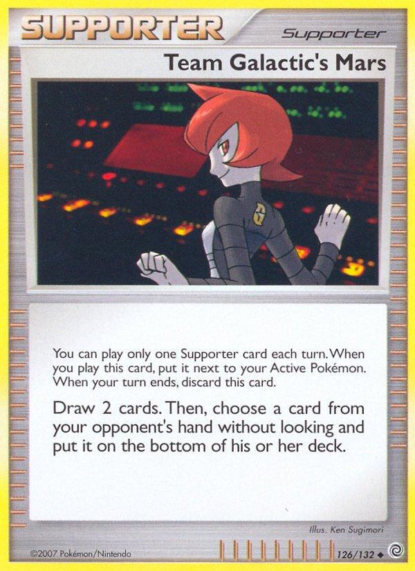 Pokemon Secret Wonders Uncommon Card Team Galactic's Mars 126/132