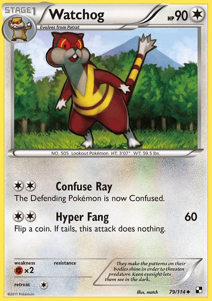 Pokemon Black & White Uncommon Card Watchog 79/114