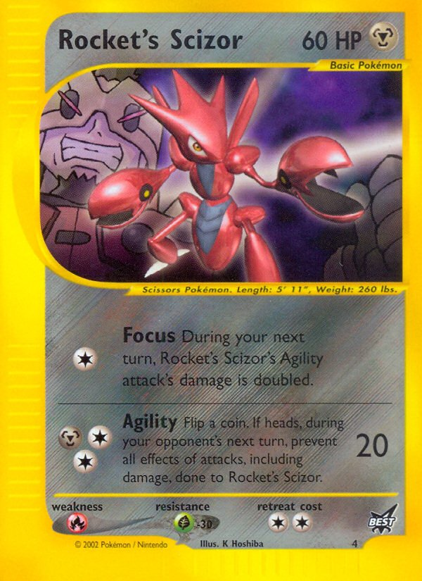 Pokemon Best of Game Promo Card #4 Rocket's Scizor