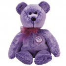 TY Beanie Babies PERIWINKLE the e-Beanie Baby Bear (MINT with tags)