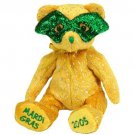TY Beanie Babies MASQUE the Mardi Gras Bear (MINT with tags)