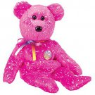 TY Beanie Babies DECADE the Bear - Pink (MINT with tags)
