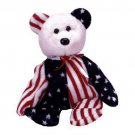 TY Beanie Babies SPANGLE the Bear - Red Face (MINT with tags)