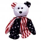 TY Beanie Babies SPANGLE the Bear - Blue Face (MINT with tags)