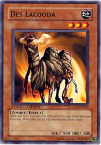 Yugioh 2008 Gold Series Single Card Des Lacooda GLD1-EN010