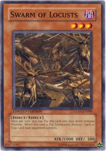 Yugioh 2008 Gold Series Single Card Swarm of Locusts GLD1-EN009