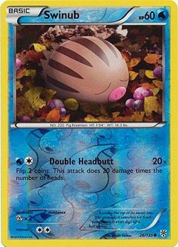 Pokemon Plasma Storm Reverse Holo Common Card Swinub 26/135