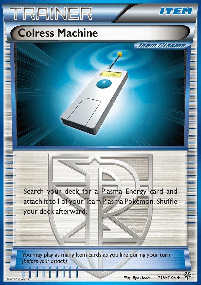 Pokemon Plasma Storm Uncommon Card Colress Machine 119/135