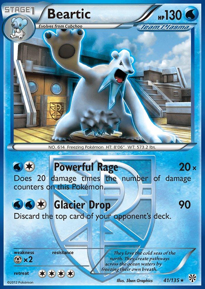 Pokemon Plasma Storm Rare Card Beartic 41/135