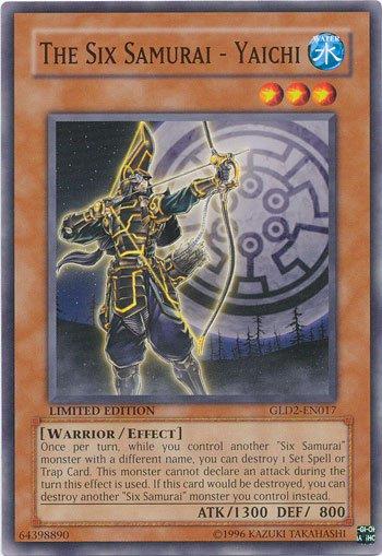 Yugioh Gold Series 2009 Single Card The Six Samurai - Yaichi GLD2-EN017