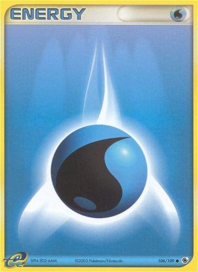 Pokemon EX Ruby & Sapphire Single Card Common Water Energy 106/109
