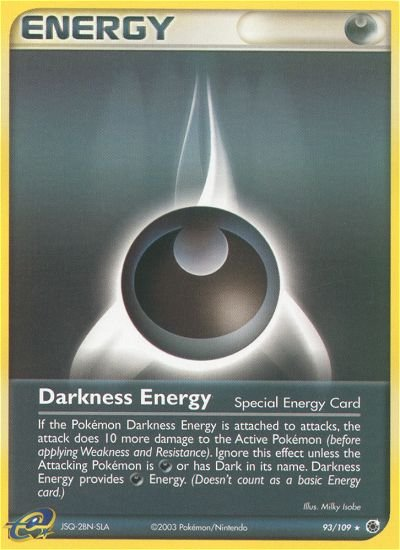 Pokemon EX Ruby & Sapphire Single Card Rare Darkness Energy 93/109