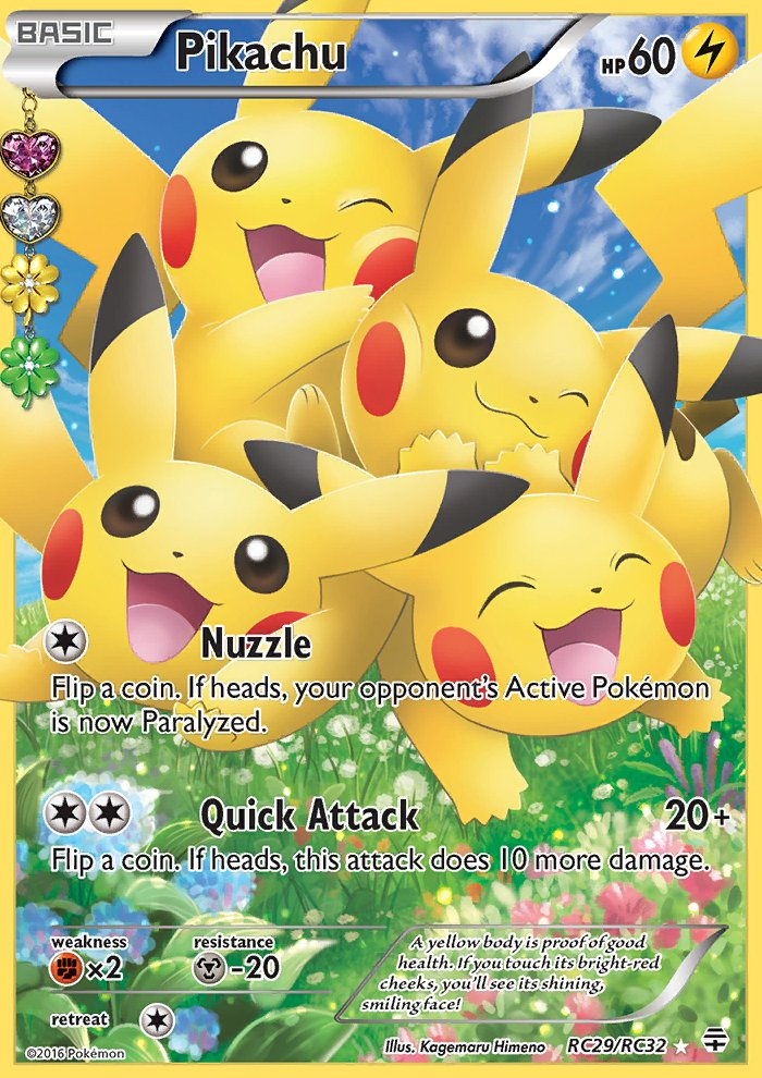Pokemon Generations Radiant Collection Single Card Full Art Pikachu RC29/RC32