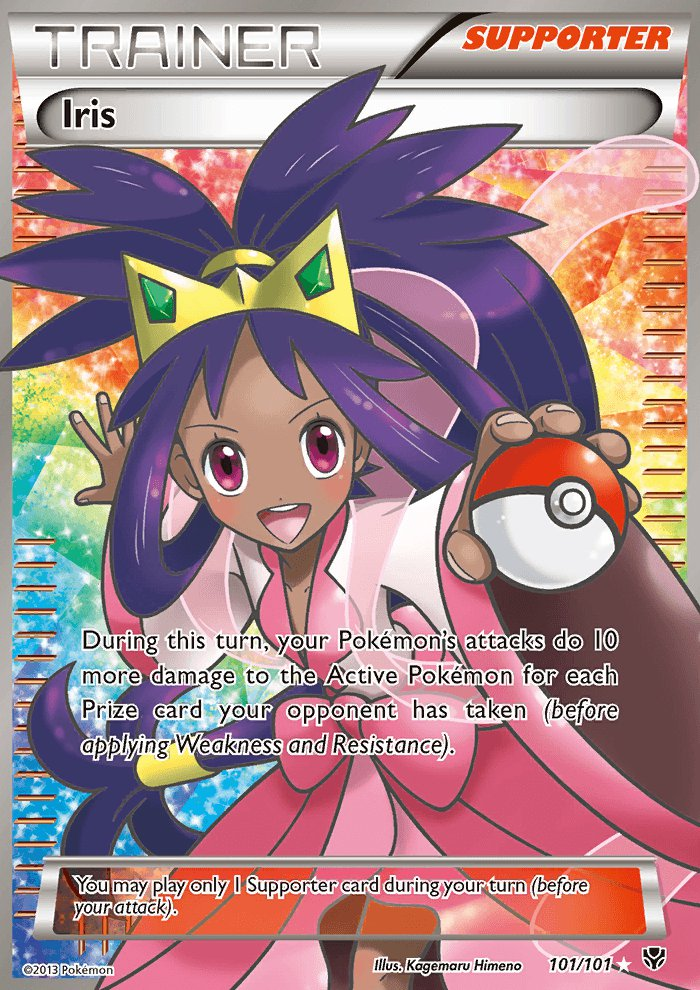 Pokemon B&W Plasma Blast Single Card Full Art Iris 101/101