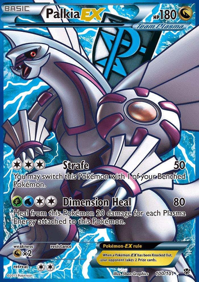 Pokemon B&W Plasma Blast Single Card Full Art Palkia EX 100/101