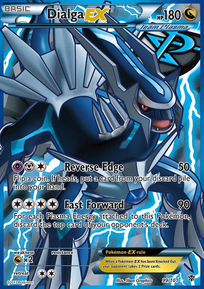 Pokemon B&W Plasma Blast Single Card Full Art Dialga EX 99/101