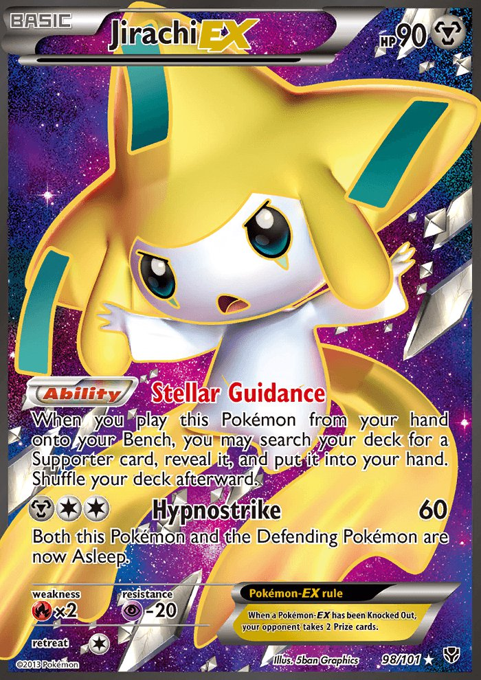 Pokemon B&W Plasma Blast Single Card Full Art Jirachi EX 98/101