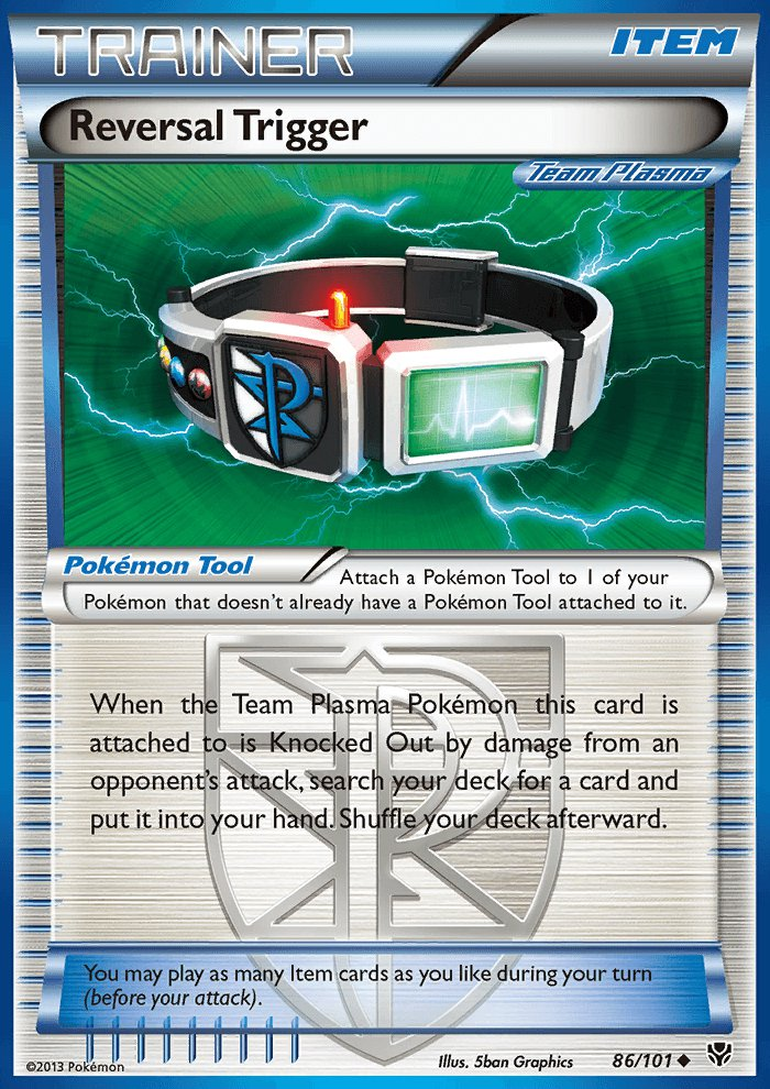 Pokemon B&W Plasma Blast Single Card Uncommon Reversal Trigger 86/101