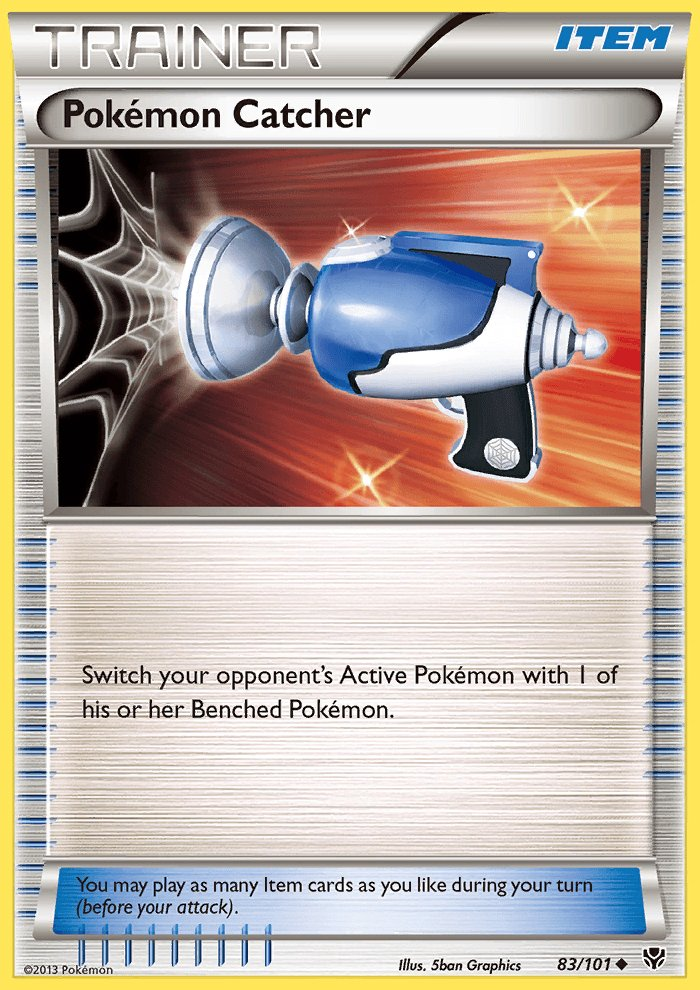 Pokemon B&W Plasma Blast Single Card Uncommon Pokemon Catcher 83/101
