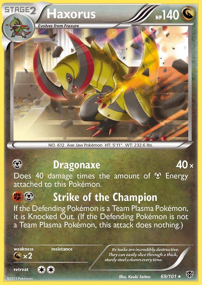 Pokemon B&W Plasma Blast Single Card Rare Holo Haxorus 69/101