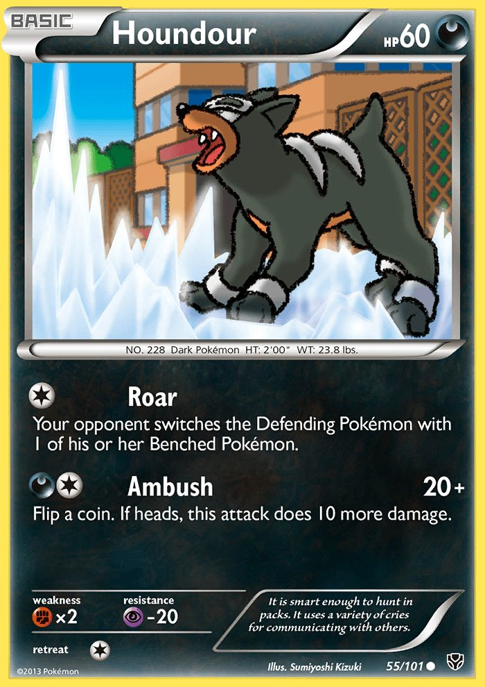 Pokemon B&W Plasma Blast Single Card Common Houndour 55/101