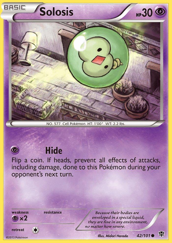 Pokemon B&W Plasma Blast Single Card Common Solosis 42/101