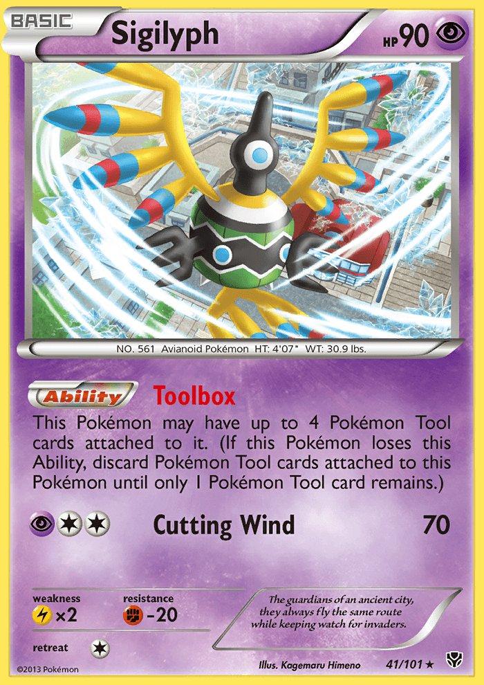 Pokemon B&W Plasma Blast Single Card Rare Holo Sigilyph 41/101