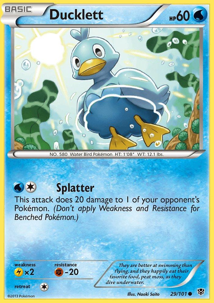 Pokemon B&W Plasma Blast Single Card Common Ducklett 29/101