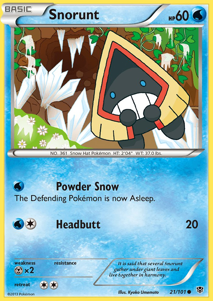 Pokemon B&W Plasma Blast Single Card Common Snorunt 21/101