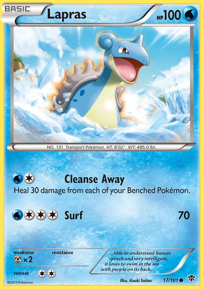 Pokemon B&W Plasma Blast Single Card Common Lapras 17/101