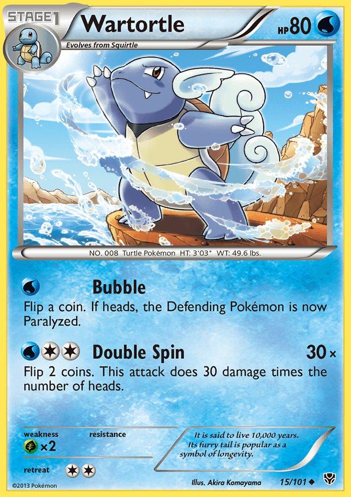 Pokemon B&W Plasma Blast Single Card Uncommon Wartortle 15/101