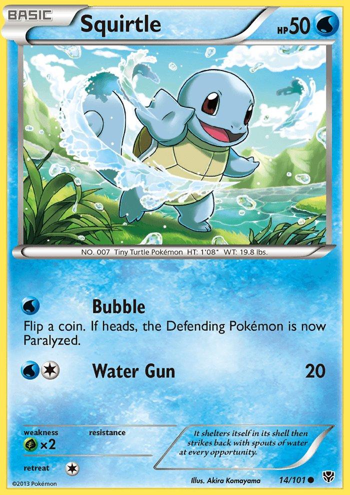 Pokemon B&W Plasma Blast Single Card Common Squirtle 14/101