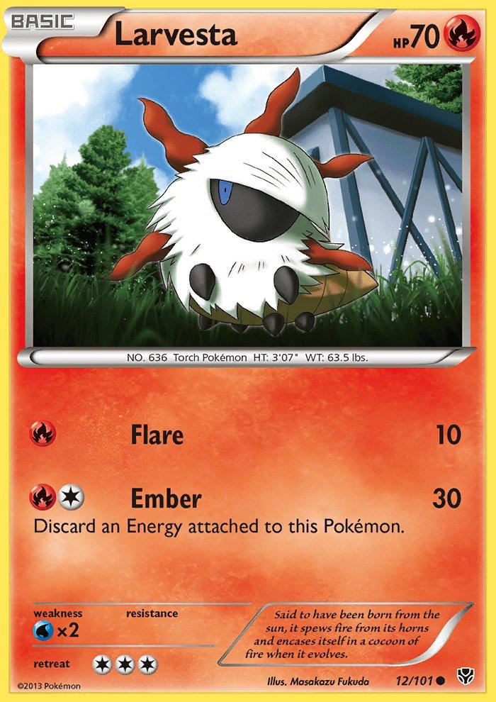 Pokemon B&W Plasma Blast Single Card Common Larvesta 12/101