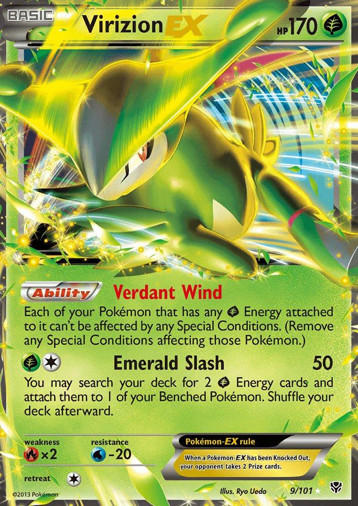 Pokemon B&W Plasma Blast Single Card Rare Holo EX Virizion EX 9/101