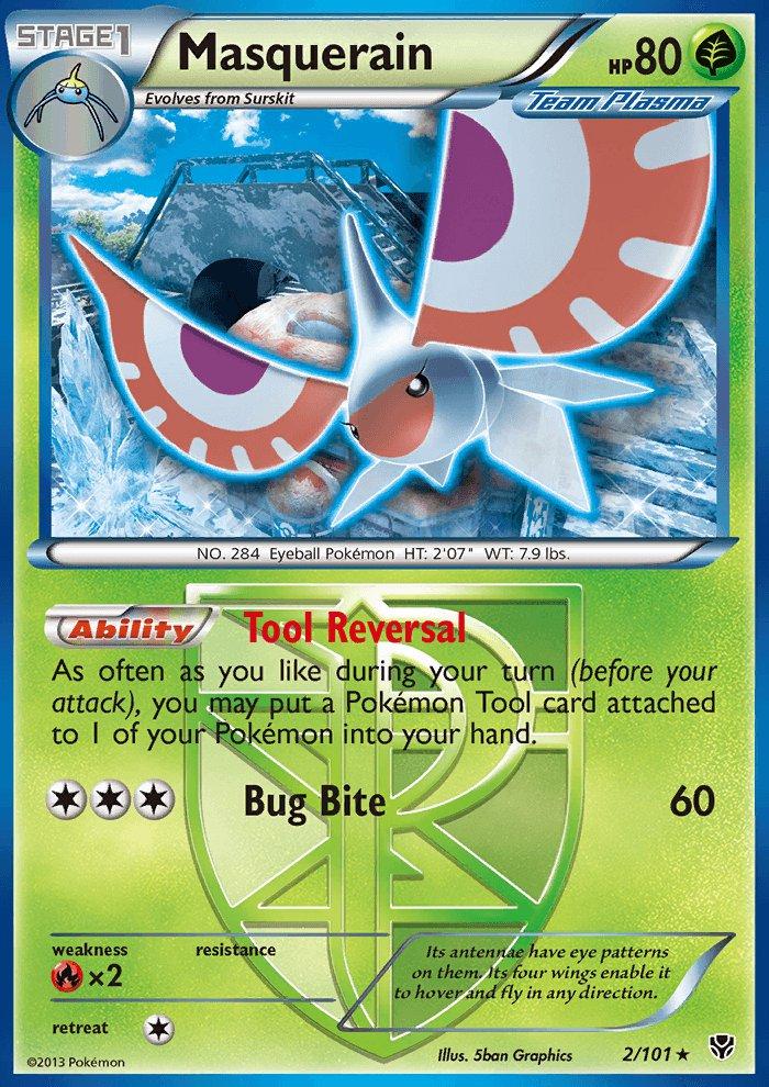 Pokemon B&W Plasma Blast Single Card Rare Masquerain 2/101