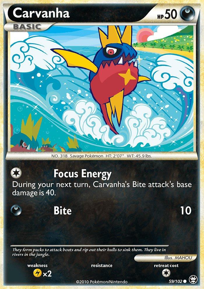 Pokemon HS Triumphant Single Card Common Carvanha 59/102